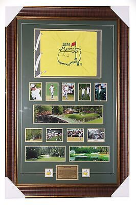 Adam Scott Signed 2015 Masters Pin Flag with Frame