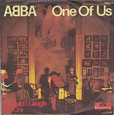 "ABBA ""One Of Us"" & ""Should I Laugh Or Cry"" German Record (NM) Picture Slv (VG+)"