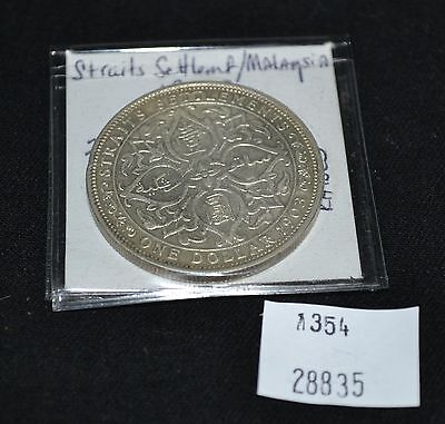 West Point Coins ~ Straits Settlements Malaysia 1903b Dollar 'Raised' KM-25 Fore