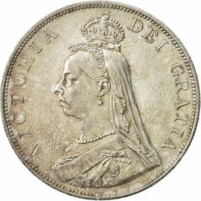 [#480948] Great Britain, Victoria, Double Florin, 1887, MS(60-62), Silver