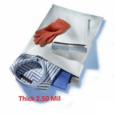 100 - 9x12 White Poly Mailers Shipping Envelopes #3 Bags 2.5 Mil 9 x 12