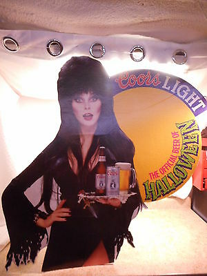 "Elvira Coors Light, Official Beer of Halloween, Cardboard Display, 36"" Tall WOW"