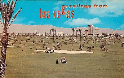 Nevada, Greetings From Las Vegas Dunes Hotel Country Club Golf Course Postcard