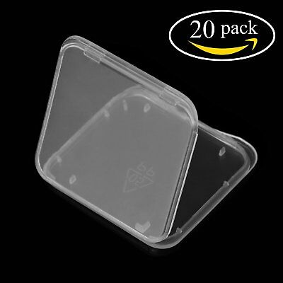 20PCS Transparent Plastic Standard SD SDHC Memory Card Case Holder Box Storage