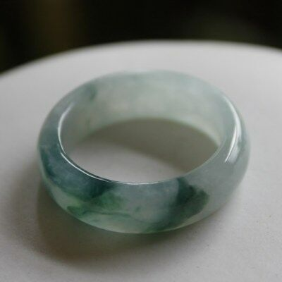 Size 9 ** CERTIFIED Natural (A) Untreated Oily Green Jadeite JADE Ring #R199
