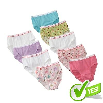 Girls' Hanes No Ride Up Cotton Assorted Colored Panties Briefs 9-Pack Size 6-16