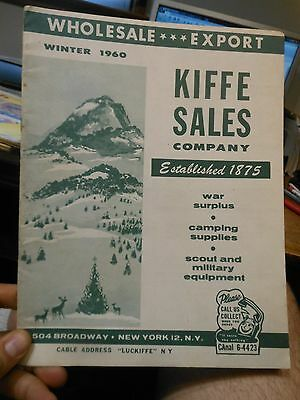 Old Kiffe Sales Company 1960 Catalog New York War Surplus Hunting Fishing Knifes