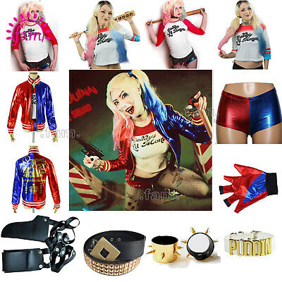 Harley Quinn Suicide Squad Cosplay Costume Jacket Halloween Kids Fancy Dress New
