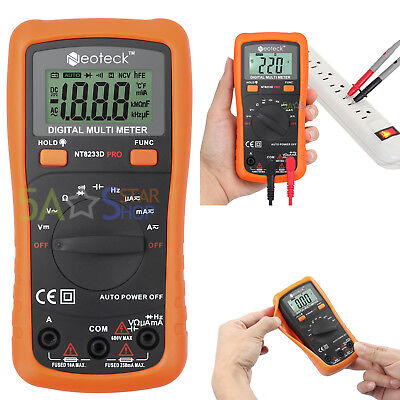 New Digital Multimeter Diodes Meter Volt Tester Electric Ac DC Rms AutoRange