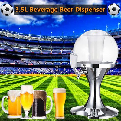 3.5L Ice Core Beer Beverage Dispenser Liquor Wine Machine Container Pourer Bar