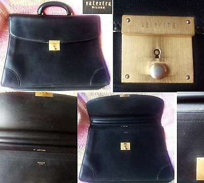 valextra milano leather pelle cuir attaché business case bag office tasche sac