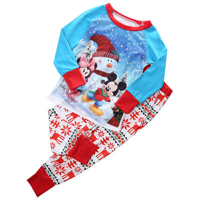 Christmas Mickey Baby Cotton Sleepsuit & 2 Piece Set Pyjamas 1-8 Years  Old