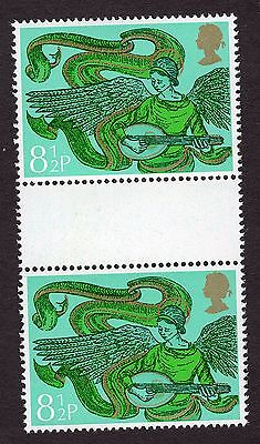 1975 8.5p Angel with Mandolin Gutter Pair SG994 MNH R31708