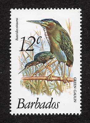 1979 Barbados 12c Green backed heron SG627 MNH R31176
