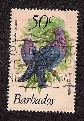 1979 Barbados 50c Red necked pigeon SG633 GOOD USED R31156