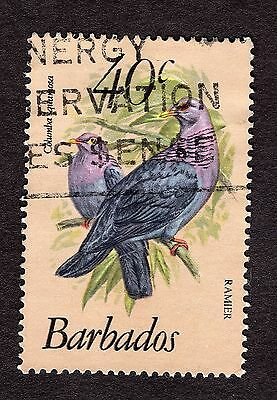 1979 Barbados 40c Red necked pigeon SG631b FINE USED R31160