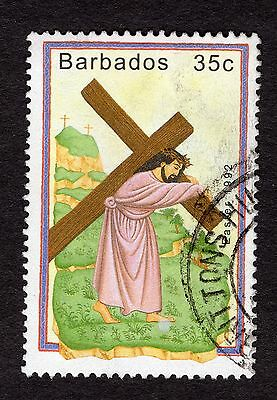 1992 Barbados 35c Easter carrying cross SG971 FINE USED R32474