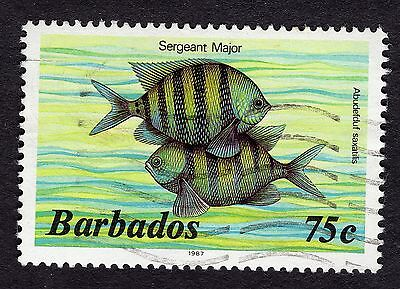 1987 Barbados 75c Sergeant major SG774b FINE USED R31743
