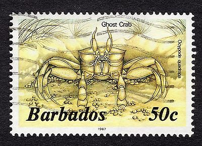 1987 Barbados 50c Ghost crab SG772b FINE USED R31733