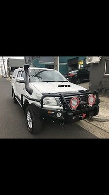 Toyota Hilux Bullbar Winch Bar With Lights Suits 2011-2014 Models