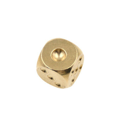 1 Pc Gold Polishing Brass Dice Game Bar KTV Party Drinking Supplies for Fun Toys