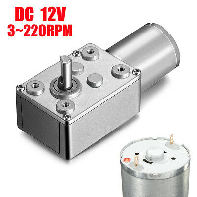 DC 12V 3~220RPM High Torque Turbine Worm Gear Box Reduction Motor New