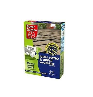 Bayer Garden Path Patio and Drive Weedkiller - Strong Weed Killer 1-36 Sachets