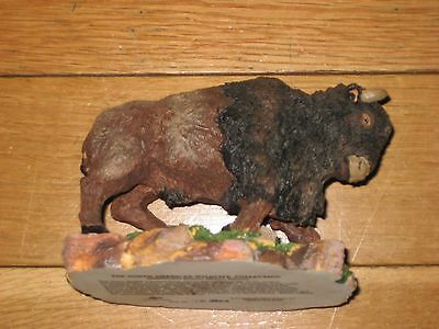North American Wildlife Collection Bison Figurine Buffalo Russ Berrie Statue Usa