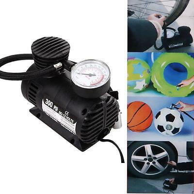 Portable Pop 300 PSI 12V Car Auto Pump Tire Inflator Mini Air Compressor W/Gauge