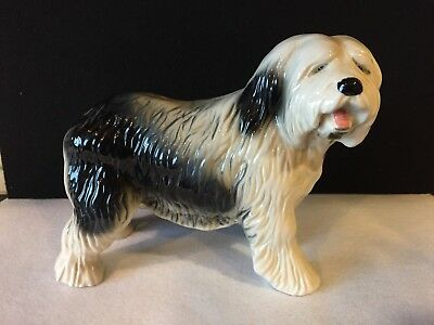 Coopercraft Porcelain Sheepdog Dog Figurine Made in England