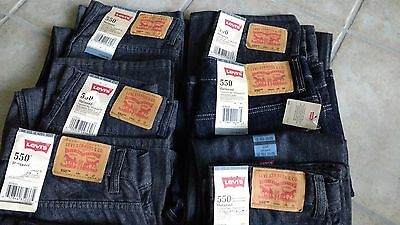 NWT, $40 - $42 MSRP, Youth Boys Levi 550 100% Cotton Denim Relaxed Fit Jeans