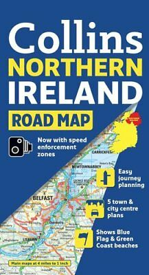 Northern Ireland Road Map (International Road... by Collins UK Sheet map, folded