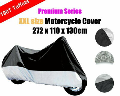 XXL 190T Polyester Taffeta Dust Rain UV Protection Motorbike Motorcycle Cover