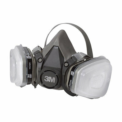 Fibreglass Spray Painting gas mask, dust mist fume chemical respirator silicone