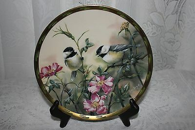 """LENOX """"ROSE MORNING"""" by Catherine McClung1992 Collector Plate"""