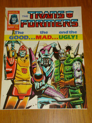 Transformers British Weekly #117 Marvel Uk Comic 1987