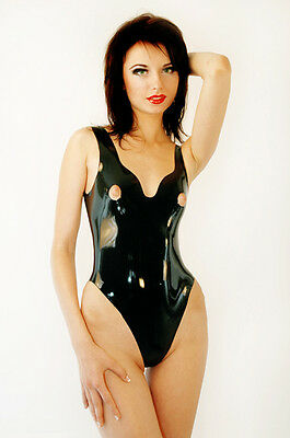 Ensemble Bain Une Piece Mamelons Libres  Fetish  Rubber - Latex Fetisso