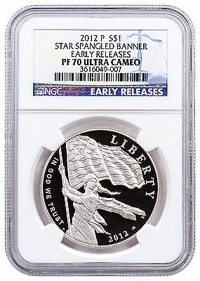 2012-P Star Spangled Banner Commemorative Silver Dollar NGC PF70 UC ER SKU25418