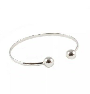 Beautiful 925 Sterling Silver Baby Torque Bangle Christening  Gift **bargain**