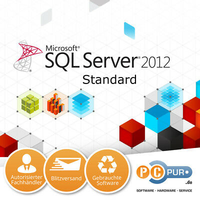 Microsoft MS SQL Server 2012 Standard 64/32-Bit Original