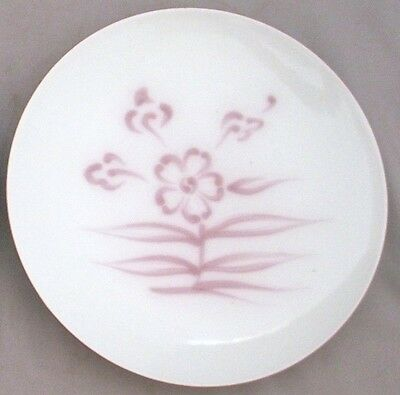 """Old Chinese/japanese Porcelain Plate~Stamped~Hand Painted~White~Pink Flowers~6"""""""
