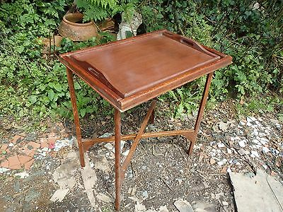 VINTAGE BUTLERS TRAY, FOLDING TABLE c1930/40s