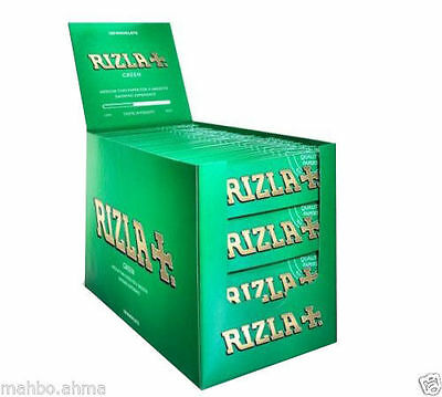 Rizla Cigarette Smoking Rolling Papers Made in Belgium 100% Genuine Item - Green