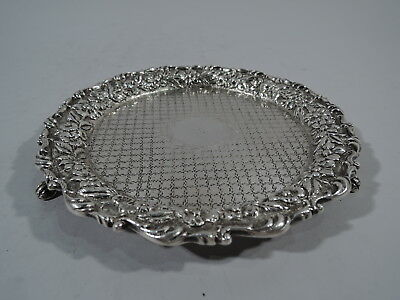 Kirk Salver - Antique Baltimore Repousse Tray - American Sterling Silver