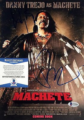 Danny Trejo Robert Rodriguez Machete Movie Signed 8x12 Photo BAS C13944