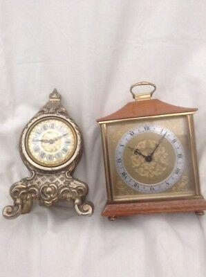 2 VINTAGE, CARRIAGE,/small Clocks , Henley , Splendex
