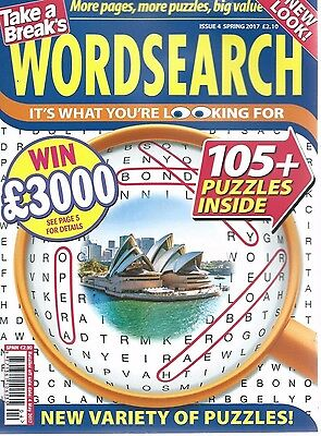 Take A Break Word Search Magazine Lots Of Puzzles Solutions In Back Free P/p (4)