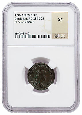 Roman Empire Billon Aurelianianus of Diocletian (AD 284-305) - NGC XF SKU47614