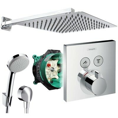 Hansgrohe ShowerSelect Unterputz Duscharmatur Regendusche Kopfbrause 30cm Set