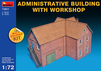 Administrative Building With Workshop Miniart 1:72 Kit MIN72021